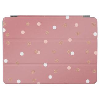 elegant rose gold glitter pink polka dots pattern iPad air cover