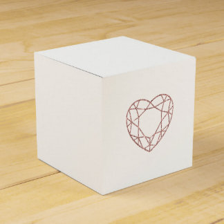 Elegant rose gold heart wedding favor box