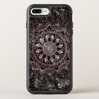 Elegant rose gold mandala dots and marble artwork. OtterBox symmetry iPhone 8 plus/7 plus case