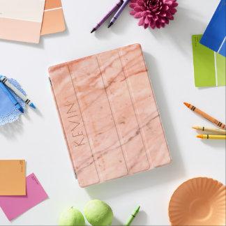 Elegant rose-gold marble stone print iPad cover