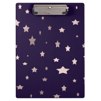 elegant rose gold stars on a purple background clipboard