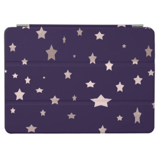 elegant rose gold stars on a purple background iPad air cover