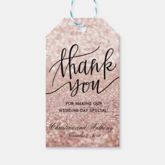 Elegant Rose Gold Wedding Thank You Favour Tags