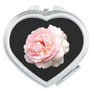 Elegant Rose Heart Duo Mirror Compact Vanity Mirrors