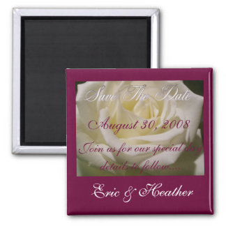 "Elegant Rose ""Save the Date"" Magnet"