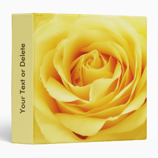 Elegant rose vinyl binder