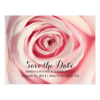 Elegant Rose Wedding Save the Date Announcements Postcard