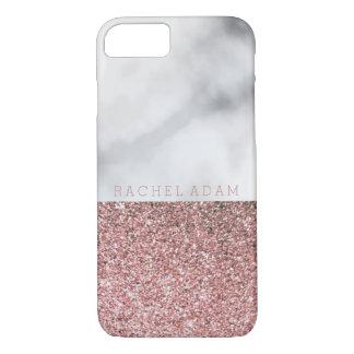 Elegant RoseGold Glitter Marble Phone Case