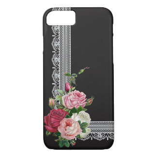 Elegant Roses and Lace iPhone 8/7 Case