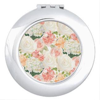Elegant roses floral wedding favor mirror