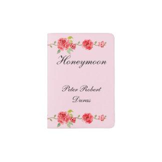Elegant Roses Grooms Honeymoon Passport Holder