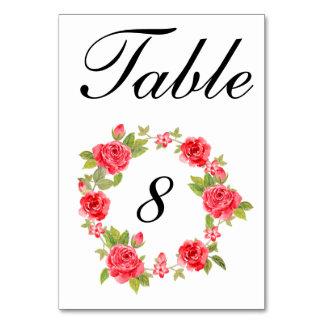Elegant Roses On White Table Number