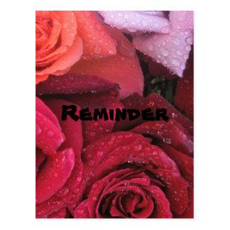Elegant Roses Reminder Postcard