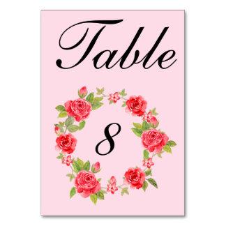 Elegant Roses Table Number