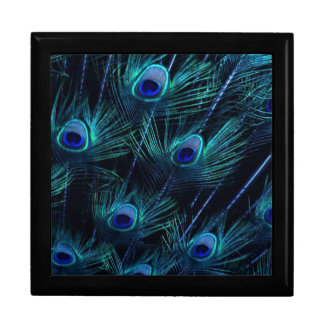 Elegant Royal Blue Peacock Keepsake Giftbox Gift Box