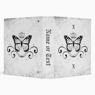 Elegant Royal Butterfly medium 3 Ring Binders