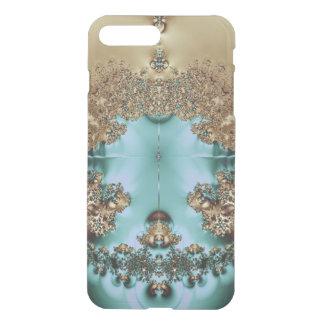 Elegant Royal Gold and Aqua iPhone 8 Plus/7 Plus Case