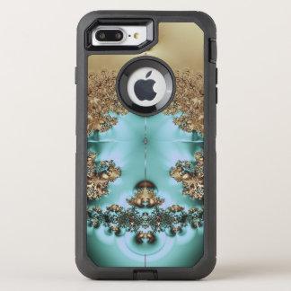 Elegant Royal Gold and Aqua OtterBox Defender iPhone 8 Plus/7 Plus Case