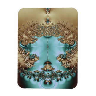 Elegant Royal Gold and Aqua Rectangular Photo Magnet