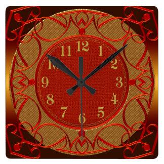 Elegant Royal Red Wall Clock