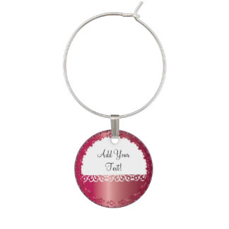 Elegant Ruby All Occasion, You Personalize it! Wine Glass Charms