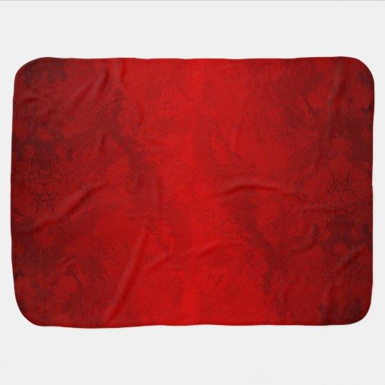 Elegant Ruby Red Baby Blanket