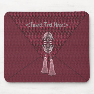 Elegant Ruby Red Tassel Mouse Pad