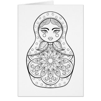 Elegant Russian Doll Card