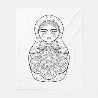 Elegant Russian Doll Fleece Blanket
