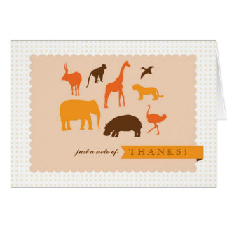 Elegant Safari Animals Baby Shower Thank You Card