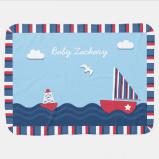 Elegant Sail boat Nautical Theme, For Babies Baby Blanket
