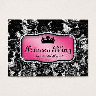 Elegant Salon Business Card Lace Crown Fashion