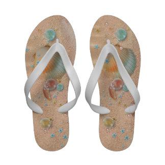 Elegant Sand and Seashells Beach Wedding Sandals