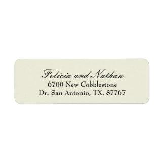Elegant Sandstone Customized Return Address Label