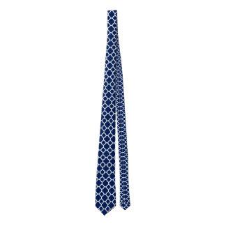 Elegant Sapphire Blue Quatrefoil Pattern
