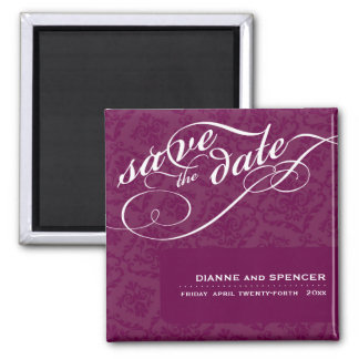 ELEGANT SAVE THE DATE MAGNET :: fancy text 6
