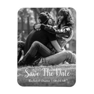 Elegant Save the Date Magnet | Script