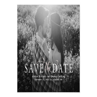 Elegant save the date magnetic card