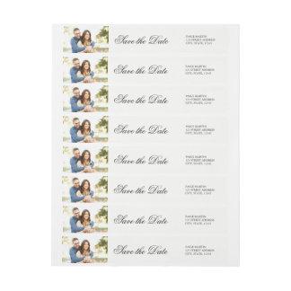 Elegant Save the Date Photo Address Label