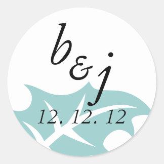 Elegant  Save the Date Winter Wedding Stickers