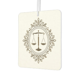 Elegant Scales of Justice | Law Gifts Car Air Freshener