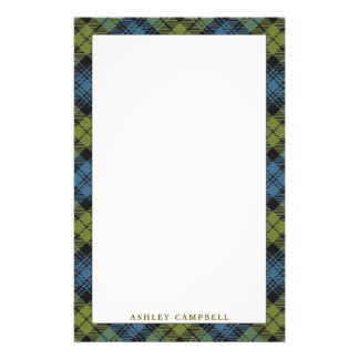 Elegant Scottish Campbell Tartan Plaid Stationery
