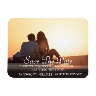Elegant Script | Custom Photo Save the Date Magnet