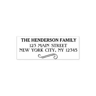 Elegant Script Family Name and Return Address Self-inking Stamp