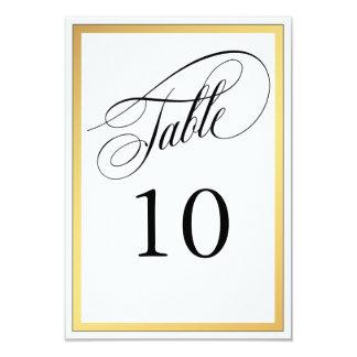 Elegant Script Flourishes Table Number Card