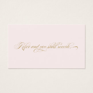 Elegant Script Pink Salon  Referral Card