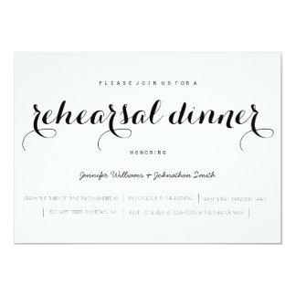 Elegant script rehearsal dinner invitations