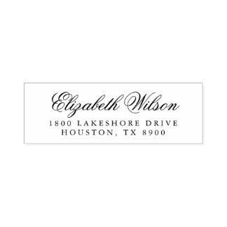 Elegant Script Self Inking Return Address Stamp