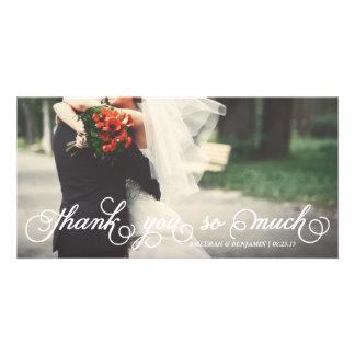 Elegant Script Thank You So Much Wedding Thank You Card