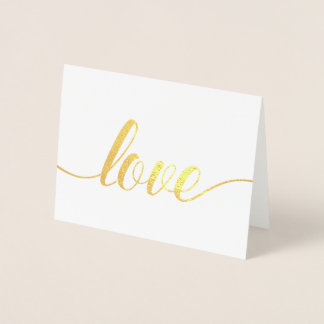 Elegant Script Valentine's Day Photo Foil Card
